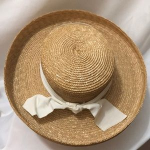 100% Straw Hat with Bow